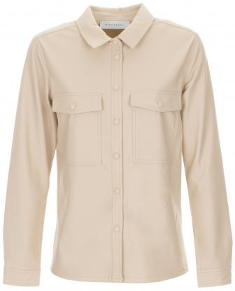 Rino & Pelle imitatie leren blouse