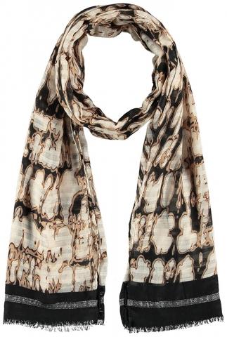 Sjaal met gevlekte print