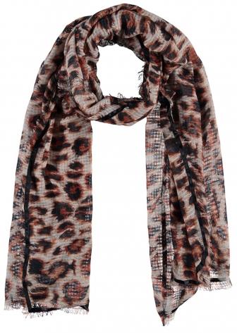 Sjaal met panterprint
